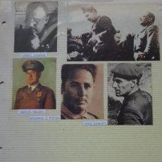 Militaria: 5 RECORTES POLÍTICO MILITARES. GUERRA CIVIL FRANQUISMO REPÚBLICA. JORDANA VALIÑO HIZZIAN 34. Lote 244436205