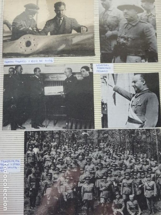 5 RECORTES POLÍTICO MILITARES. GUERRA CIVIL FRANQUISMO REPÚBLICA. FRANCO TENERIFE 1936. 35 (Militar - Fotografía Militar - Guerra Civil Española)
