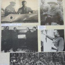 Militaria: 5 RECORTES POLÍTICO MILITARES. GUERRA CIVIL FRANQUISMO REPÚBLICA. FRANCO TENERIFE 1936. 35. Lote 244436330
