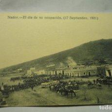 Militaria: POSTAL MILITAR NADOR.-DIA OCUPACION 1921. Lote 244441970