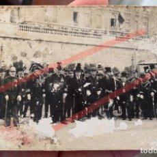 Militaria: FOTOGRAFÍA DE ACTO MILITAR EN CARTAGENA CON ALMIRANTES. Lote 244531960