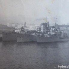 Militaria: FOTOGRAFÍA CRUCERO LIGERO NAVARRA. ARMADA NACIONAL BOHIGAS MALLORCA GUERRA CIVIL. Lote 244754905