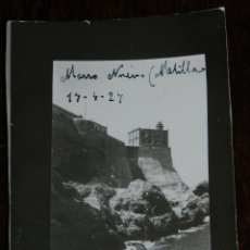 Militaria: FOTOGRAFIA DE MELILLA, FARO, LIGHTHOUSE, TORREON DEL BONETE, AÑO 1924, GUERRA DEL RIF, MIDE 8 X 6 CM. Lote 244788675