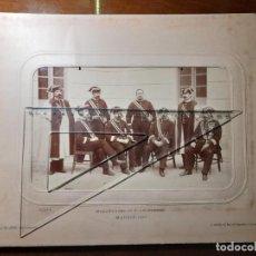 Militaria: FOTOGRAFÍA FORMATO GIGANTE REAL CUERPO DE ALABARDEROS MADRID 1897 FOTÓGRAFO J DAVID DE PARÍS,. Lote 244950425