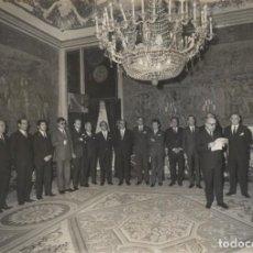 Militaria: AUDIENCIA FRANCO , COMISION EJECUTIVA DEL I SALON NACIONAL MARROQUINERIA IBERPIEL. (13/03/1970). Lote 244980295