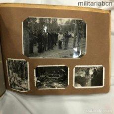 Militaria: ÁLBUM CON 57 FOTOGRAFÍAS DE CAMPAMENTOS DEL FRENTE DE JUVENTUDES CENTURIA GATELL Y FOLCH 1944, 1947. Lote 245443345