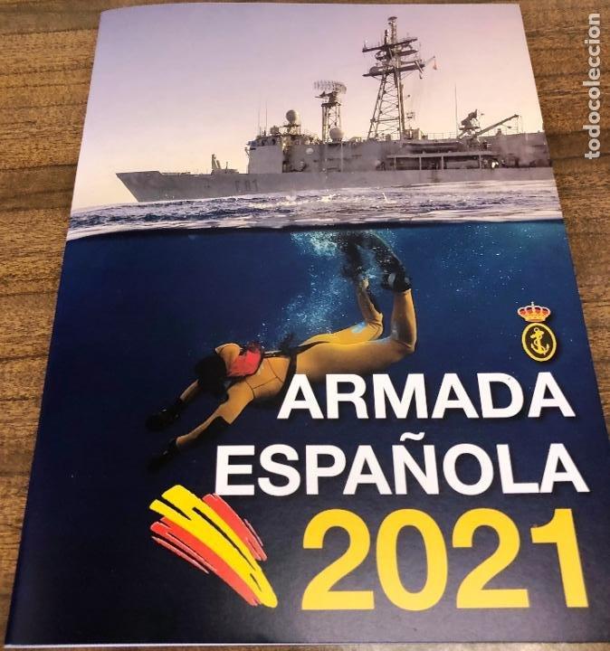 Militaria: Lote completo agenda 2021 de la Armada Española: agenda pared, calendario sobremesa y agenda libreta - Foto 3 - 246647955