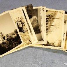 Militaria: 14 FOTOGRAFIAS DE MILITARES Y VEHICULOS ESPAÑOLES AÑOS 50. Lote 246917935