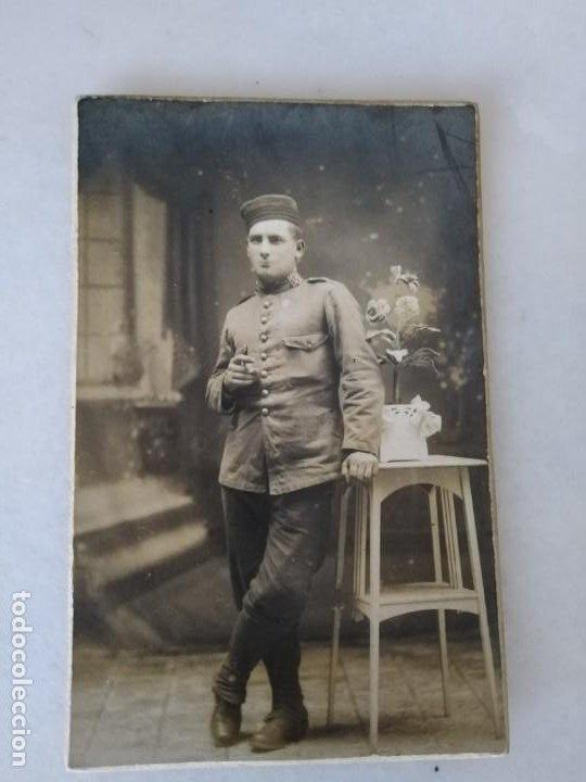 FOTO POSTAL SOLDADO GUERRA DEL RIF MUY BONITA BATALLÓN 58. (Militar - Fotografía Militar - Otros)