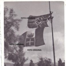 Militaria: BANDERAS CTV ITALIANO ESVASTICA ALEMANA LEGION CONDOR FRENTE ARAGON GUERRA CIVIL. Lote 248949815
