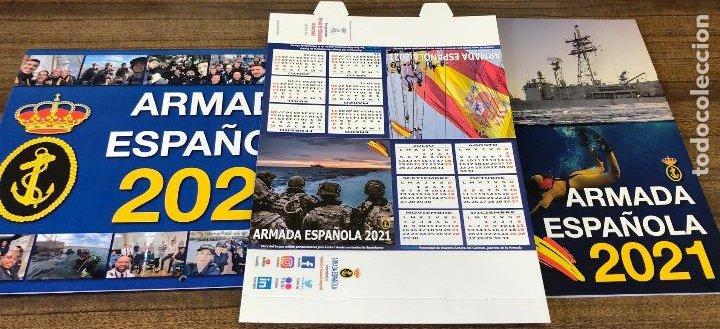 LOTE COMPLETO AGENDA 2021 DE LA ARMADA ESPAÑOLA: AGENDA PARED, CALENDARIO SOBREMESA Y AGENDA LIBRETA (Militar - Fotografía Militar - Otros)