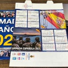 Militaria: LOTE COMPLETO AGENDA 2021 DE LA ARMADA ESPAÑOLA: AGENDA PARED, CALENDARIO SOBREMESA Y AGENDA LIBRETA. Lote 246647955