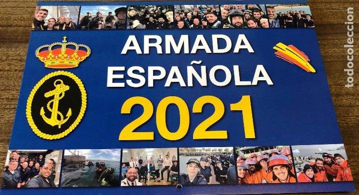Militaria: Lote completo agenda 2021 de la Armada Española: agenda pared, calendario sobremesa y agenda libreta - Foto 10 - 246647955