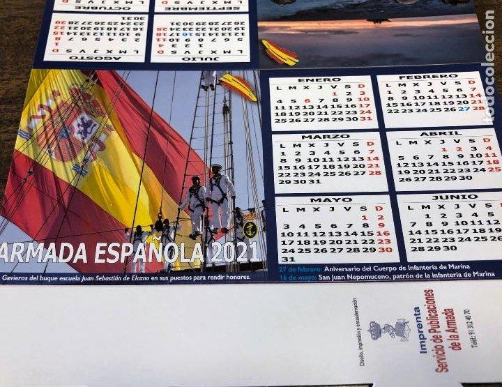 Militaria: Lote completo agenda 2021 de la Armada Española: agenda pared, calendario sobremesa y agenda libreta - Foto 26 - 246647955
