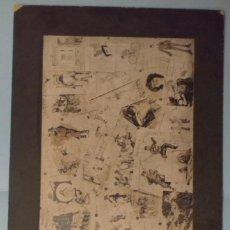Militaria: FOTOGRAFIA COLLAGE DE 1904 CON DIBUJOS SOBRE EL REGIMIENTO DE ASTURIAS 31 Y BATALLON DE LAS NAVAS 10. Lote 249552985