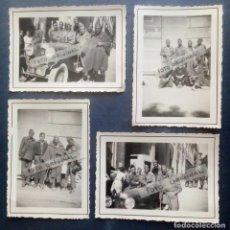 Militaria: LA CORUÑA - GUERRA CIVIL - SOLDADOS DEL REGIMIENTO DE ARTILLERIA EN EL CANTÓN GRANDE (4 FOTOS).. Lote 250307830