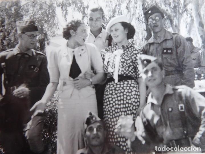 FOTOGRAFÍA ALFÉRECES PROVISIONAL DEL EJÉRCITO NACIONAL. ACADEMIA DAR RIFFIEN CEUTA (Militar - Fotografía Militar - Guerra Civil Española)