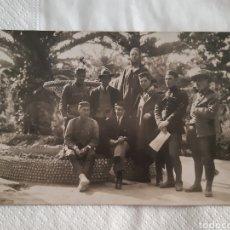 Militaria: TARJETA POSTAL FOTOGRÁFICA SOLDADOS ESPAÑOLES EN MÁLAGA FECHADA EN EL AÑO 1920 GUERRA DEL RIF. Lote 251672215