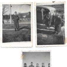 Militaria: LOTE 3 FOTOGRAFÍAS NAZIS EN BURGOS Y RABÉ DE LA CALZADA DURANTE LA GUERRA CIVIL AÑOS 1937 Y 1938. Lote 251703365