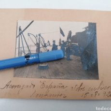 Militaria: ACORAZADO ESPAÑA. IMAGEN DE CUBIERTA. SANTANDER, 1920. Lote 251789470