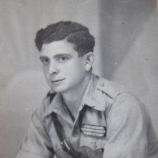 Militaria: FOTOGRAFÍA SARGENTO PROVISIONAL DEL EJÉRCITO NACIONAL. ACADEMIA DAR RIFFIEN 1937. Lote 252051525