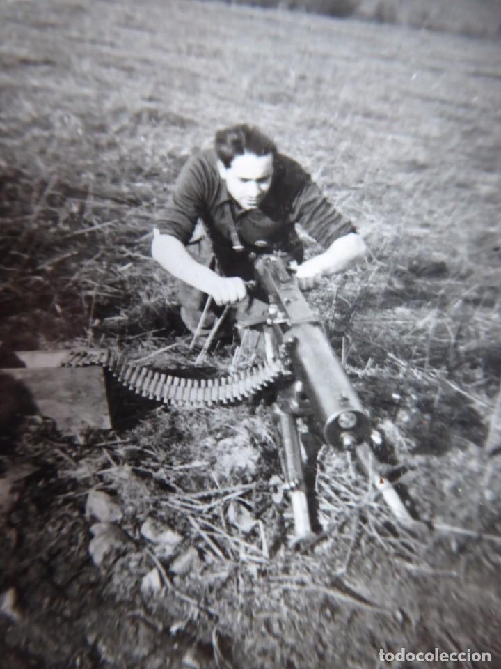 Militaria: Fotografía soldado ametralladoras del ejército nacional. Frente del Norte - Foto 3 - 252532400