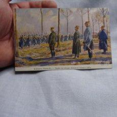 Militaria: CURIOSA POSTAL DESFILE AL GENERAL JOFFRE CON PROGRAMA DE CINE EN ESPAÑOL I GUERRA 1916. Lote 252600690