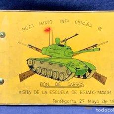 Militaria: ALBUM 8 FOTOS MILITAR CARROS COMBATE REGTO MIXTO INFANTERIA ESPAÑA 18 BATALLON CARROS 1971 16X22CMS. Lote 253115900