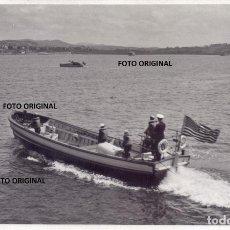 Militaria: PORTUGALETE BILBAO LANCHA ACORAZADO USS OKLAHOMA REFUGIADOS FRENTE NORTE GUERRA CIVIL. Lote 253287620