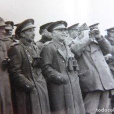 Militaria: FOTOGRAFÍA ALTOS OFICIALES DEL EJÉRCITO ESPAÑOL. MANIOBRAS 1940. Lote 253567395