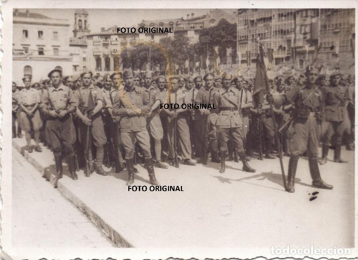 JURA BANDERA SARGENTOS PROVISIONALES ACADEMIA VITORIA JUNIO 1937 LEGION CONDOR GUERRA CIVIL (Militar - Fotografía Militar - Guerra Civil Española)