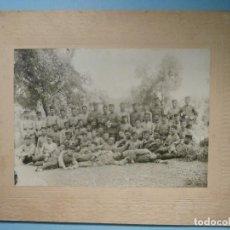 Militaria: GRAN FOTOGRAFÍA - UNIDAD MILITAR SIN DETERMINAR - 19 X 24 CM - 12,5 X 17,5 CM -. Lote 254635250
