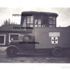 Militaria: CAMION MEDICALIZADO LLANES ASTURIAS LEGION CONDOR FRENTE NORTE 1937 GUERRA CIVIL. Lote 254770085