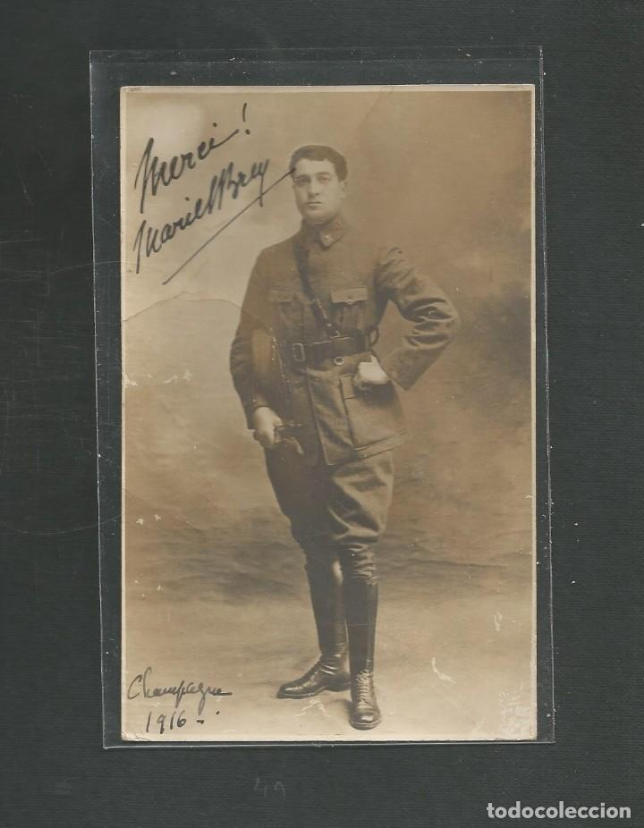 FOTOGRAFIA MILITAR SOLDADO FRANCES FECHADA EN 1916 (ORIGINAL) (Militar - Fotografía Militar - I Guerra Mundial)