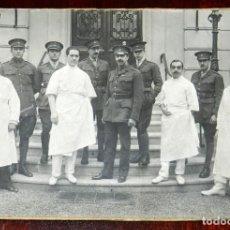 Militaria: FOTOGRAFIA DEL PERSONAL MEDICO MILITAR ESPAÑOL EN EL HOSPITAL ESPAÑOL DE PARIS PARA HERIDOS DE GUERR. Lote 255599865