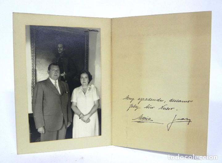 FELICITACION NAVIDEÑA ORIGINAL DE DON JUAN DE BORBON Y DOÑA MARIA, FIRMADA MANUSCRITA, ALFONSO XIII (Militar - Fotografía Militar - Otros)