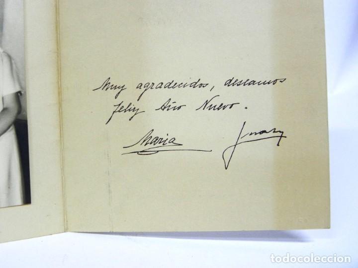 Militaria: Felicitacion navideña original de Don Juan de Borbon y doña Maria, firmada manuscrita, Alfonso XIII - Foto 3 - 257327165