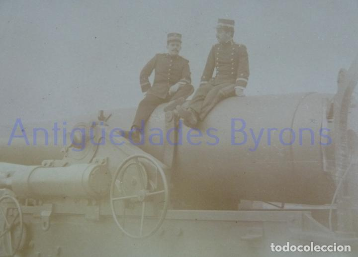 FOTOGRAFÍA ANTIGUA. LAS PALMAS DE G.C. TENIENTES DE ARTILLERÍA. ÉPOCA ALFONSO XIII (14 X 9 CM) (Militar - Fotografía Militar - Otros)