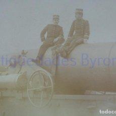 Militaria: FOTOGRAFÍA ANTIGUA. LAS PALMAS DE G.C. TENIENTES DE ARTILLERÍA. ÉPOCA ALFONSO XIII (14 X 9 CM). Lote 257589915