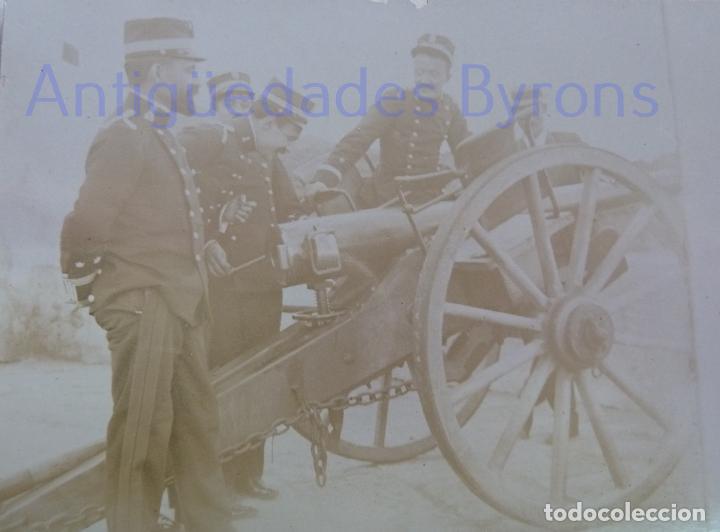 FOTOGRAFÍA ANTIGUA. LAS PALMAS DE G.C. CAÑÓN Y ARTILLEROS. ÉPOCA ALFONSO XIII (14 X 9 CM) (Militar - Fotografía Militar - Otros)