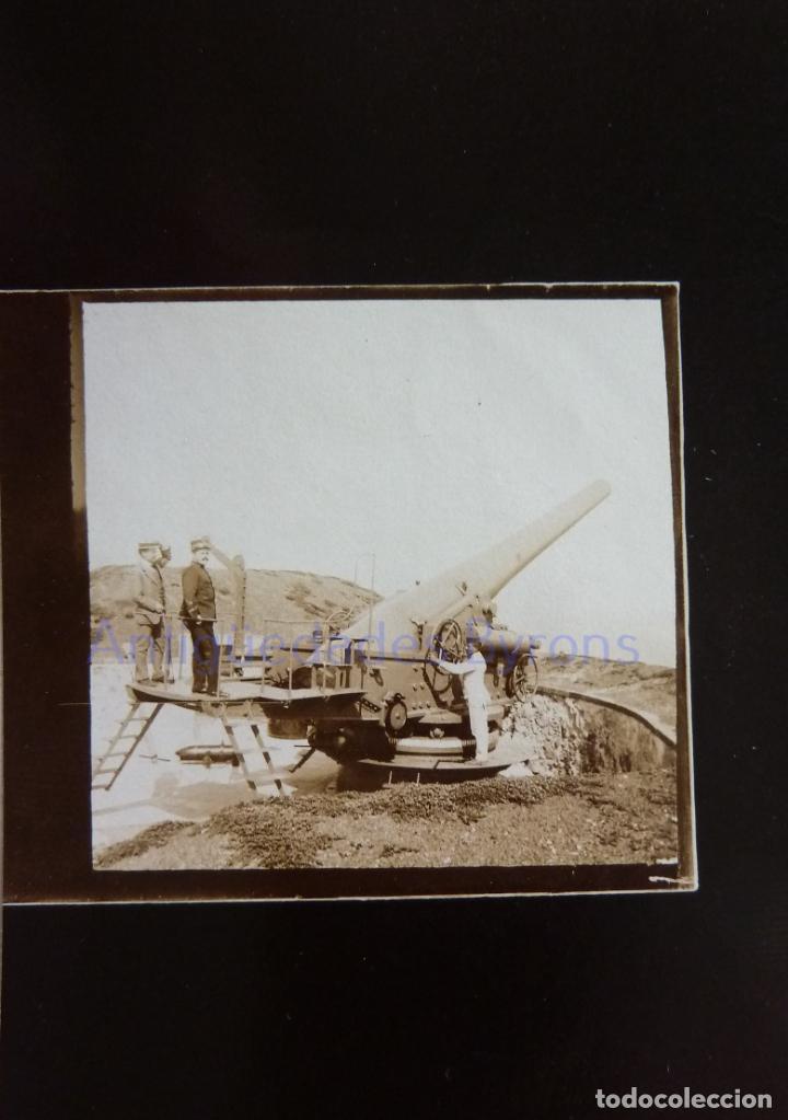 FOTOGRAFÍA ANTIGUA. LAS PALMAS DE G.C. CAÑÓN Y ARTILLEROS. ÉPOCA ALFONSO XIII (9 X 6 CM) (Militar - Fotografía Militar - Otros)