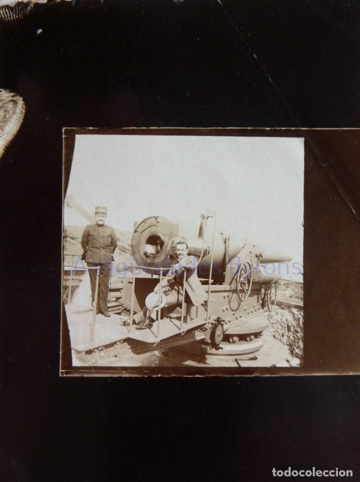 FOTOGRAFÍA ANTIGUA. LAS PALMAS DE G.C. CAÑÓN Y ARTILLERO. ÉPOCA ALFONSO XIII (9 X 6 CM) (Militar - Fotografía Militar - Otros)