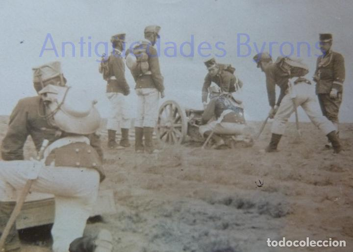 FOTOGRAFÍA ANTIGUA. LAS PALMAS DE G.C. ARTILLEROS DE MANIOBRAS. ÉPOCA ALFONSO XIII (8 X 8 CM) (Militar - Fotografía Militar - Otros)