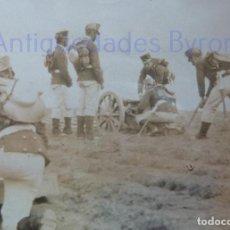 Militaria: FOTOGRAFÍA ANTIGUA. LAS PALMAS DE G.C. ARTILLEROS DE MANIOBRAS. ÉPOCA ALFONSO XIII (8 X 8 CM). Lote 257597165