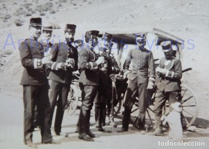 FOTOGRAFÍA ANTIGUA. LAS PALMAS DE G.C. OFICIALES. ÉPOCA ALFONSO XIII (8 X 8 CM) (Militar - Fotografía Militar - Otros)