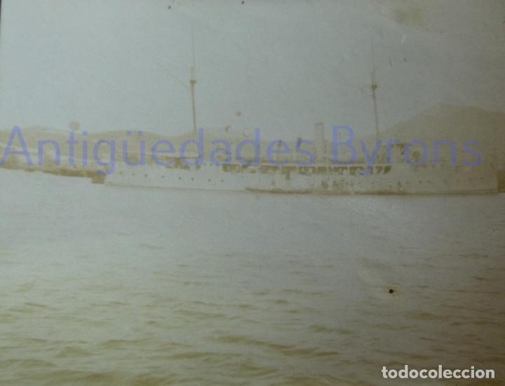 FOTOGRAFÍA ANTIGUA. LAS PALMAS DE G.C. VISITA DE ALFONSO XIII. AÑO 1906 (9 X 6,5 CM) (Militar - Fotografía Militar - Otros)
