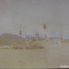 Militaria: FOTOGRAFÍA ANTIGUA. LAS PALMAS DE G.C. VISITA DE ALFONSO XIII. AÑO 1906 (9 X 6,5 CM). Lote 257599925
