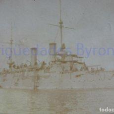Militaria: FOTOGRAFÍA ANTIGUA. LAS PALMAS DE G.C. VISITA DE ALFONSO XIII. AÑO 1906 (9 X 5,5 CM). Lote 257600190