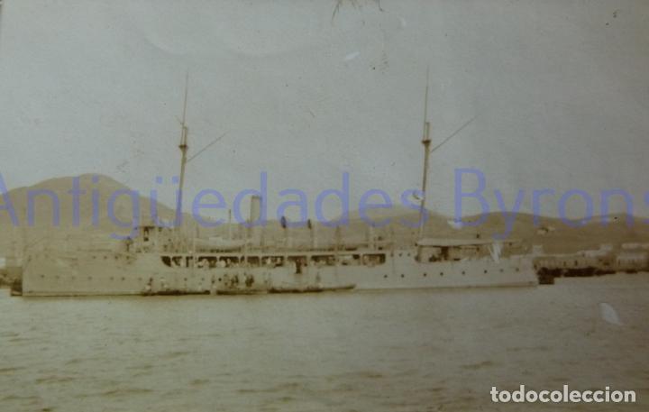 FOTOGRAFÍA ANTIGUA. LAS PALMAS DE G.C. VISITA DE ALFONSO XIII. AÑO 1906 (9 X 5,5 CM) (Militar - Fotografía Militar - Otros)