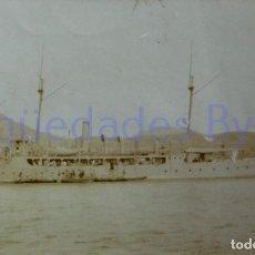 Militaria: FOTOGRAFÍA ANTIGUA. LAS PALMAS DE G.C. VISITA DE ALFONSO XIII. AÑO 1906 (9 X 5,5 CM). Lote 257600300